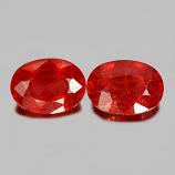 Genuine Orange Sapphire 0.92ct 7.0x5.0x3.0mm SI Madagascar