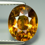 Genuine 100% Natural Sphene 2.83ct 9.5x7.8x5.1 VS2 Madagascar