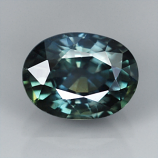 Genuine Bluish Green Sapphire 1.27ct 6.9 x 5.2mm Thailand VS1