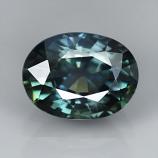 Genuine Bluish Green Sapphire 1.27ct 6.9 x 5.2mm Thailand VS1