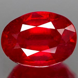 Genuine RUBY 1.59ct 7.5 x 5.3 x 4.2mm Oval