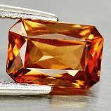 Genuine 100% Natural Imperial Zircon 1.67ct 7.8 x 5.3mm Octagon SI1 Clarity