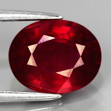 Genuine Ruby 3.56ct 10.0 x 8.0mm Oval SI Clarity