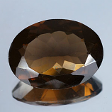Genuine 100% Natural Smoky Quartz 17.57ct 21.0 x 16.1mm Brazil VVS