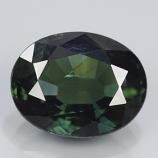 Genuine 100% Natural Green Sapphire 2.42ct 8.8x7.0x4.3 SI1 Thailand