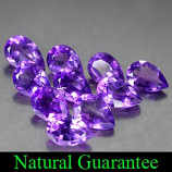 Genuine 100% Natural Amethyst .37ct 5.9 x 4.0mm (10) Pear VS1 Clarity