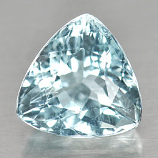 Genuine 100% Natural Blue Aquamarine 3.32ct 9.6 x 9.6mm Trilliant SI1 Clarity