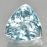 Genuine 100% Natural Blue Aquamarine 3.32ct 9.6 x 9.6mm Trilliant SI1 Clarity