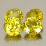 Genuine 100% Natural (4) Sphene 0.56ct 5.1x5.1x2.6mm VS1 Madagascar