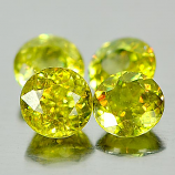 Genuine 100% Natural (4) Sphene 0.56ct 5.0x5.0x3.7mm VS1 Madagascar