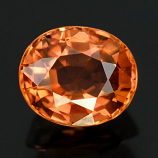 Genuine 100% Natural ORANGE TOURMALINE .98ct 6.5 x 5.5 x 3.8mm Oval