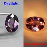 Genuine 100% Natural Color Change Sapphire 1.37ct 8x5.5 VS1 Madagascar