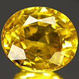 Genuine YELLOW SAPPHIRE 1.17ct 6.2 x 5.4 x 3.8mm Oval