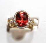 Genuine Red Sapphire Gold Ring 4.95ct VVS Clarity Size 7.00