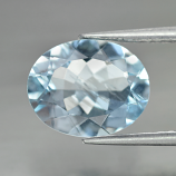 Genuine 100% Natural Aquamarine 2.00ct 10.0x7.8x4.3mm SI1 Brazil