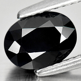 Genuine Black Sapphire 1.81ct 8.0 x 6.0mm Oval Opaque