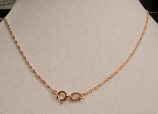 "18"" Rose Gold Chain 14k"