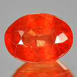 Genuine Orange Sapphire 1.03ct 6.8 x 5.0mm Oval VS1 Clarity