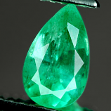 Genuine 100% Natural Colombian EMERALD 1.12ct 8.7 x 5.3 x 4.7mm Pear