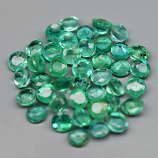 Genuine 100% Natural Set EMERALDS (42) 2.06cts 2.3 x 2.3 Round Cut SI1 Clarity Cambodia