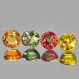 Genuine (4) Sapphires 1.65cts 4.0x4.0 VVS Tanzania