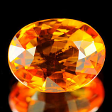Genuine Orange Sapphire 1.13ct 7.2 x 5.6 x 3.1mm Tanzania SI