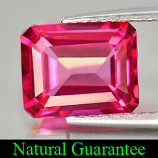 Genuine Pink Topaz 3.16ct 9.2 x 7.0mm Octagon VVS Clarity