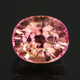 Genuine 100% Natural WATERMELON PINK TOURMALINE 1.15ct 6.5 x 5.5 x 4.6mm Oval
