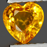 Genuine YELLOW SAPPHIRE .80ct 5.5 x 5.5 x 3.2mm Heart