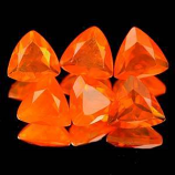 Genuine 100% Natural Fire Opal .26ct 5.1 x 5.1 x 2.9mm Mexico VVS