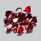 Genuine 100% Natural Red Garnet 0.47cts 6.0 x 4.2mm Nigeria VVS