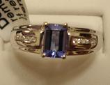 Tanzanite Gold Ring 0.47ct 14K White Gold Size 7.0 (Certified)