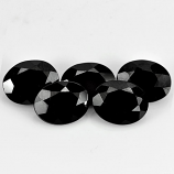 Genuine 100% Natural Black Spinel 1.04ct 9.1x7.3mm Opaque Thailand