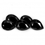 Genuine 100% Natural Black Spinel 0.86ct 7.0x5.0mm Opaque Thailand