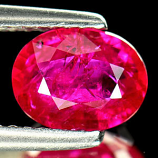 Genuine 100% Natural Ruby 1.25ct 7.7 x 5.9 x 3.0mm Tanzania VS1