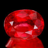 Genuine Red Sapphire 1.52ct 7.6 x 5.8 x 3.8mm SI