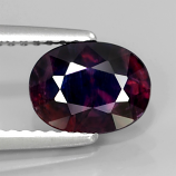 Genuine 100% Natural Purple Sapphire 1.61ct 8x6.2mm SI2 Tanzania