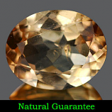 Genuine 100% Natural Champagne Topaz 2.53ct 9.9 x 7.9mm Brazil SI