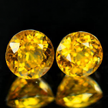Genuine 100% Natural Yellow Garnet (2) 1.54cts 5.1 x 5.1 x 4.1mm Madagascar SI