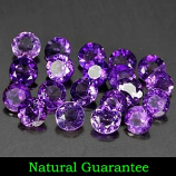 Genuine 100% Natural Amethyst .11ct 3.0 x 3.0mm (20) Round VVS Clarity