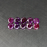 Genuine Set PURPLE DIAMONDS (10) .24ct 1.5 x 1.5 x 1.1mm Round