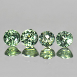Genuine Green Sapphire .45ct 4.2 x 4.2mm Round VS1 Clarity