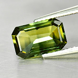Genuine Green Sapphire 1.98ct 9.5 x 6.1mm Octagon VS1 Clarity