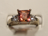Pink Tourmaline Gold Ring 2.54ct 14K White Gold Size 7.0