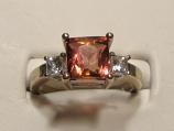Pink Tourmaline Gold Ring 2.54ct 14K White Gold Size 7.0