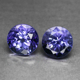 Genuine 100% Natural Tanzanite Pair (2) 1.22ct 4.8x4.8mm VVS Tanzania