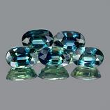 Genuine Bluish Green Sapphires 0.72cts 6.1 x 4.1 x 3.2mm Thailand VS1