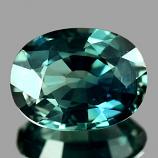 Genuine Bluish Green Sapphire 1.19ct 7.5 x 5.7mm VVS Thailand