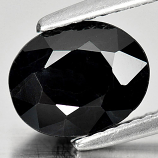 Genuine Black Sapphire 2.50ct 9.0 x 7.2mm Oval Opaque