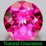 Genuine Pink Topaz 3.36ct 9.1 x 9.1mm Round IF Clarity